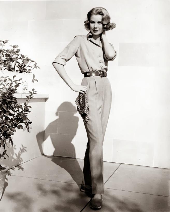 Grace Kelly en 1956 pantalon trousers